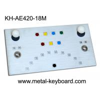 Wholesale IP65 Metal Ruggedized Industrial Kiosk Keyboard with Tow Trackballs from china suppliers