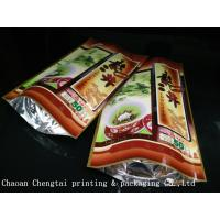 Quality Colorful Stand Up Pouches Plastic Packaging Bags For Tea / Coffee / Powder for sale