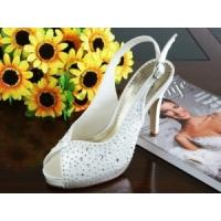 Wholesale China Wedding Shoes / White Lady Dress Shoes with Varnished Heel for wedding from china suppliers