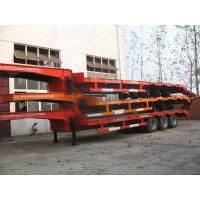 Wholesale 50t 70t 100t  low bed Semi-trailer with tri-axle excavator trailer.good quality low loader from china suppliers
