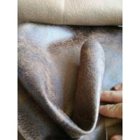 Wholesale Grey Faux Suede Upholstery Fabric 50000 Times Abrasion Resistant from china suppliers