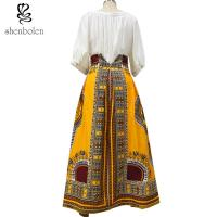 Wholesale Cotton Printed A Line Style African Print Skirts Designs Batik Fabric Fashion from china suppliers