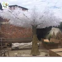 Wholesale UVG winter wedding ideas white banyan leaves fake white trees for stage decoration GRE059 from china suppliers