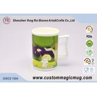 Wholesale Ceramic Travel Colour Changing Coffee Magic Photo Mugs with Special Handle from china suppliers