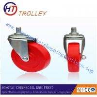 Wholesale Supermarket Shopping Trolley Spare Parts Red Castor Without Bearing from china suppliers