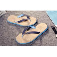 Wholesale Wood Grain Fashion Flip Flops Slip Resistance Mens Thong Slippers Multi Colored from china suppliers