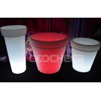 Wholesale Rechargeable Plastic Glow In The Dark Flower Pots Outdoor Lighted Furniture from china suppliers