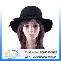 China 100% wool felt hat for women fashion wide brimmed hats on sale
