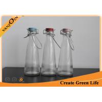 Wholesale 500 ml Glass Vintage Milk Bottles With Ceramic Lid / Wire Handle from china suppliers