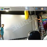 Quality Silver Flat / Curved Screen 5D Movie Theater Washable Durable Easy Installation for sale