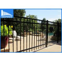 Wholesale Decorative Wrought Iron Fence Panels 1.8m*2.4m , Powder Coated Steel Fence from china suppliers