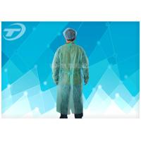 Wholesale CPE Yellow Disposable Coveralls Waterproof Disposable Gown With Knitted Cuff from china suppliers