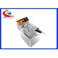 Wholesale Stainless Steel One Basket Countertop  Electric Deep Fryers With Single Tank from china suppliers