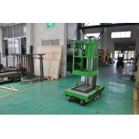 Wholesale 8m Platform Height Single Mast Aluminum Aerial Work Platform Green Color Shopping Mall Using with AC Power Supply from china suppliers