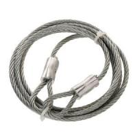 Wholesale Thimble Hot-Dip Galvanized Steel Braided Wire Rope Slings 1x19 With Both End from china suppliers
