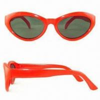 Wholesale Nontoxic Sunglasses with Scratch-resistant Coating on Lenses, Lead-free, Suitable for Kids from china suppliers