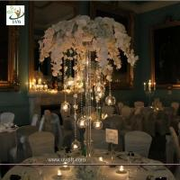 Wholesale UVG event party supplier 5ft wedding decoration table centerpiece in artificial orchids from china suppliers