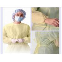 Quality PP nonwoven medical gowns , green disposable isolation surgical gown for hospital for sale