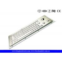 Quality Small Dimension Stainless Steel Industrial Kiosk Keyboard With Optical Trackball for sale