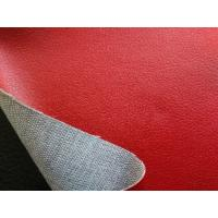 Wholesale PU Polyurethane Leather Fabric , Red Faux Leather Upholstery Material from china suppliers