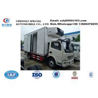 China Wholesale bottom price Dongfeng 4*2 RHD 5tons refrigerated truck for frozen meat, HOT SALE! chiller frozen van truck on sale