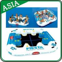 Wholesale Party Floating Inflatable Island Lounge For Beach Vacation , Inflatable Island from china suppliers