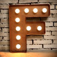 Wholesale Battery Operated Illuminated Vintage Letter Lights , Vintage Metal Marquee Letters from china suppliers
