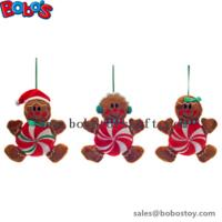 Buy cheap Cheapest Xmas Plush Stuffed Gingerbread Man Toy Christmas Product from wholesalers