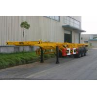 Wholesale 20ft / 30ft Gooseneck Rear 3 FUWA Axles Carbon Steel Container Trailer Chassis from china suppliers