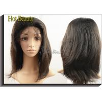 Wholesale Virgin Human Hair Machine Sewing Full Lace Wigs Soft Straight In Stock from china suppliers
