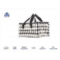 Wholesale Houndstooth Printing Insulated Cooler Bags 120g / m² With Aluminum / Pearl Form Inner from china suppliers