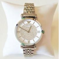Wholesale Wholesale Emporio Armani Women New Watch Silver White Dial Genuine Retro Classic AR1925 AR1926 from china suppliers