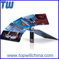 Wholesale Promotion Slim Credit Card USB Flash Drive High Printing Quality from china suppliers