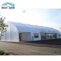 Wholesale Special Shape Curved Tent Span Size 12m - 40m With White Roof Cover from china suppliers
