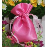 Wholesale Small Pink Fabric Satin Dawstring Bag Eco-friendly Drawstring Bags from china suppliers