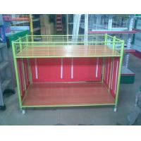 Wholesale Steel Supermarket Clothes Promotion Cart / Hand Push Exihibition Display Table from china suppliers