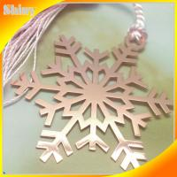 Wholesale Die Cuting Metal Christmas Ornaments , Brass Snowflake Ornaments Gold Plated from china suppliers