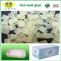 Wholesale Box Packing Eva Based Hot Melt Adhesive , Yellow Transparent Hot Glue Granule from china suppliers