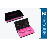 Book Style Magnetic Eyelash Box Portable Custom Packaging For Eyelashes for sale