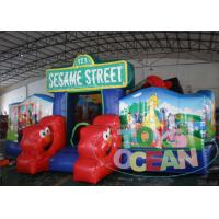 Wholesale Sesame Street Theme Inflatable Cartoon Obstacle Playground For Kids from china suppliers