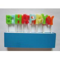 Wholesale Attractive Flameless Pick Birthday Letter Candles With Assorted Colors from china suppliers