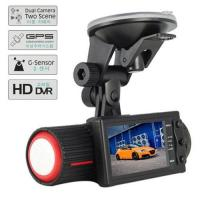 Wholesale HD DVR Recorder TFT Wide Angle G-sensor Vehicle Black Box Car Camera With GPS, Dual Lens from china suppliers