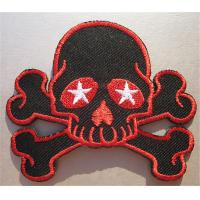 Wholesale Skull Cross Bones Embroidered Iron On Patch Star Eyes from china suppliers