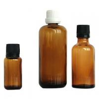 Wholesale Amber Colored Essential Oil Glass Bottles 100ml 30ml 10ml with Cap Dropper from china suppliers