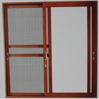 Quality Powder coated, wood grain color aluminum sliding glass doors with 5mm - 12mm glass for sale
