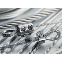 Wholesale 4.8mm Steel Cable Assembly Wire Cable Assemblies With Clip / Eye Hook Thimble from china suppliers