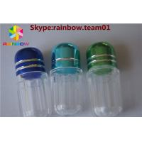 Wholesale empty plastic capsules pill container capsule case capsule shape container hexagonal shape capsule bottle from china suppliers