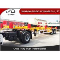 Wholesale 20ft / 40ft Chassis Container Trailer 30-50 Ton Load FUWA / BPW Axle from china suppliers