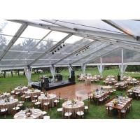Wholesale 500 People Clear Span Tents For Weddings Receptions With Transparent PVC Roof from china suppliers