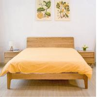 Wholesale Small Modern Real Wood Platform Bed , Chunky Wooden Frame Single Bed With Slatted Bed Base from china suppliers